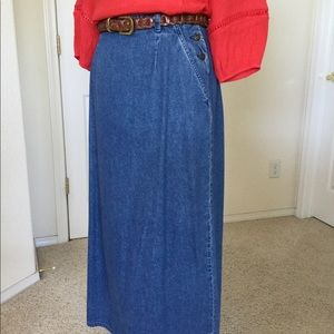 Just In! Vtg Liz Claiborne Denim Maxi Skirt